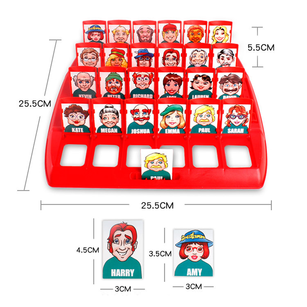 Funny Family Guessing Games Kids Toys Who Is It Classic Board Game Interactive Toys For Children Party Play Birthday Gift 6
