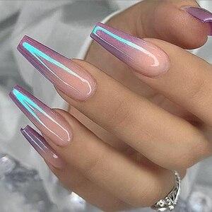 Image 5 - 12 pçs transparente espelho do prego brilho em pó para manicure neon colorido chrome pigmento flocos prego poeira decoração define CHJC01 12 1