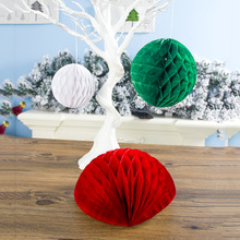 Creative Home Christmas Tree Pendant The New Decorations Decor Ornaments Banner Ball Bell Pull Flower 3 Packs