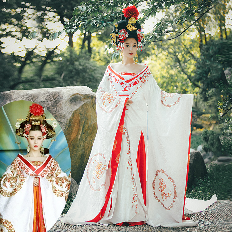 Disfraz tradicional chino cosplay Wu disfraz de Zetian danza traje de emperatriz princesa drama Hanfu Wu Mei Niang traje mujeres Trajes tradicionales chinos para hombres, Chaqueta de traje Tang Wu Shu Tai Chi Shaolin Kung Fu Wing Chun, camisa de manga larga, traje de ejercicios