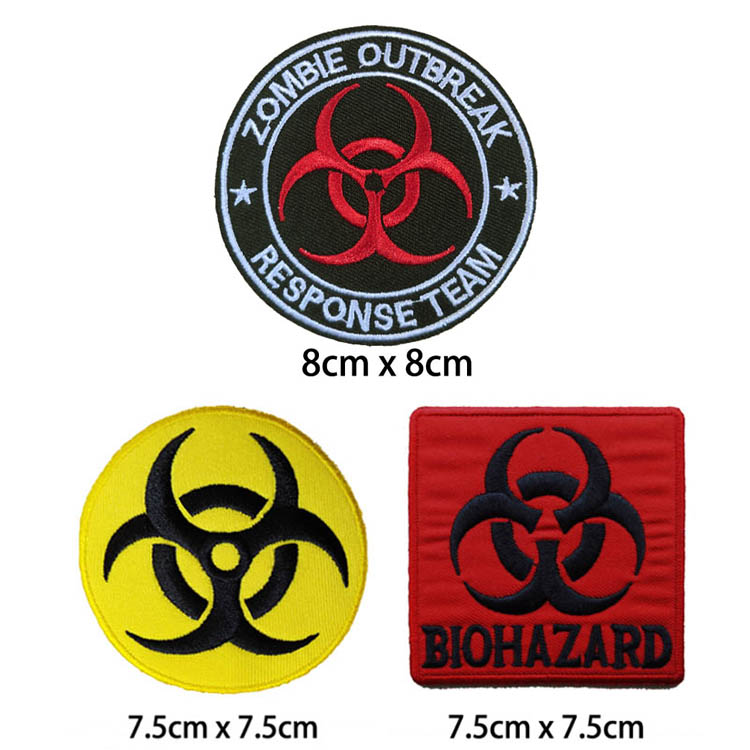 NAME TAG DANGER DANGEROUS Black Embroidered Iron on Patch Free Postage