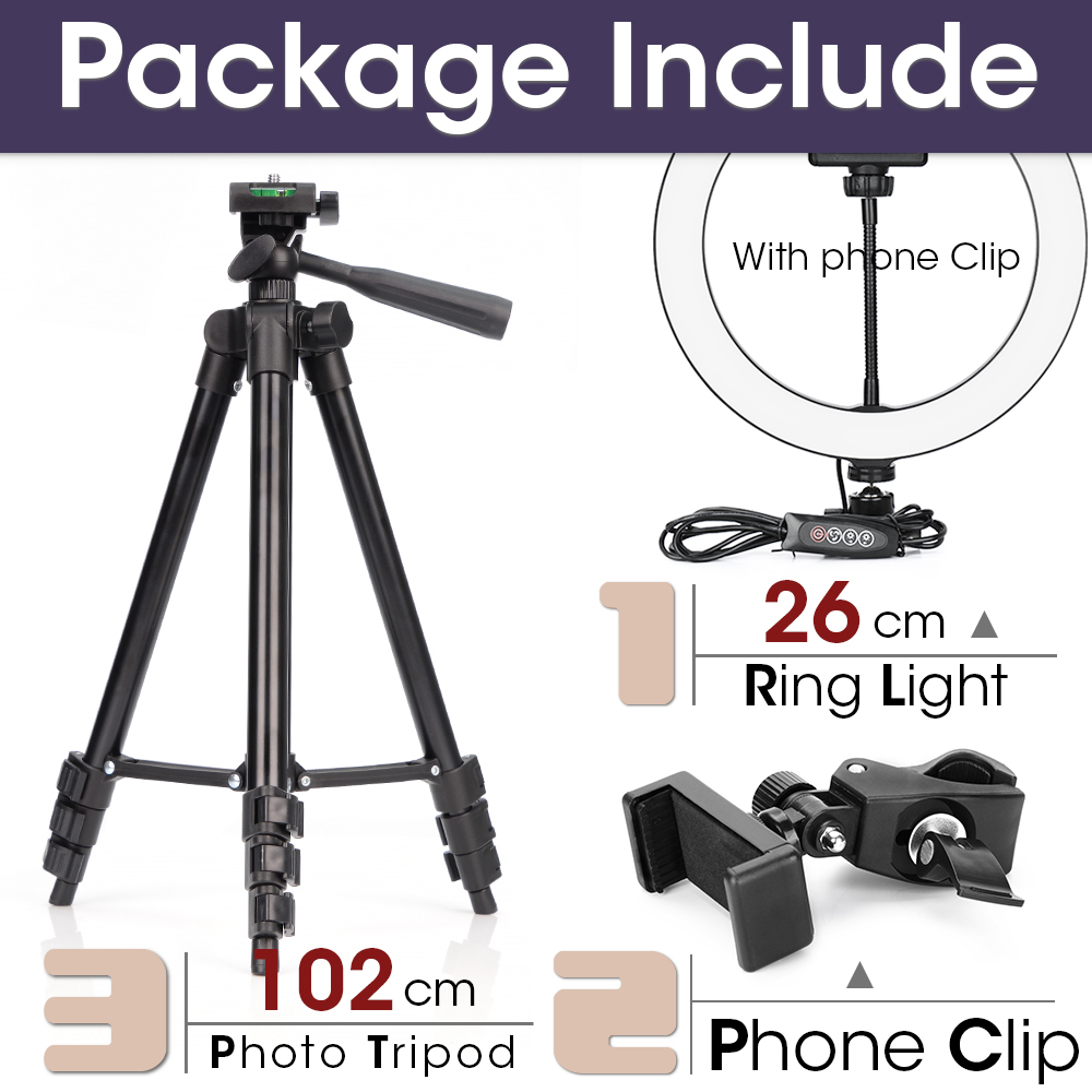 26cm and 102cmTripod