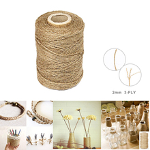 3Ply 100m Natural Brown Soft Jute Rope Twine Sisal String For Art Gift Bottle