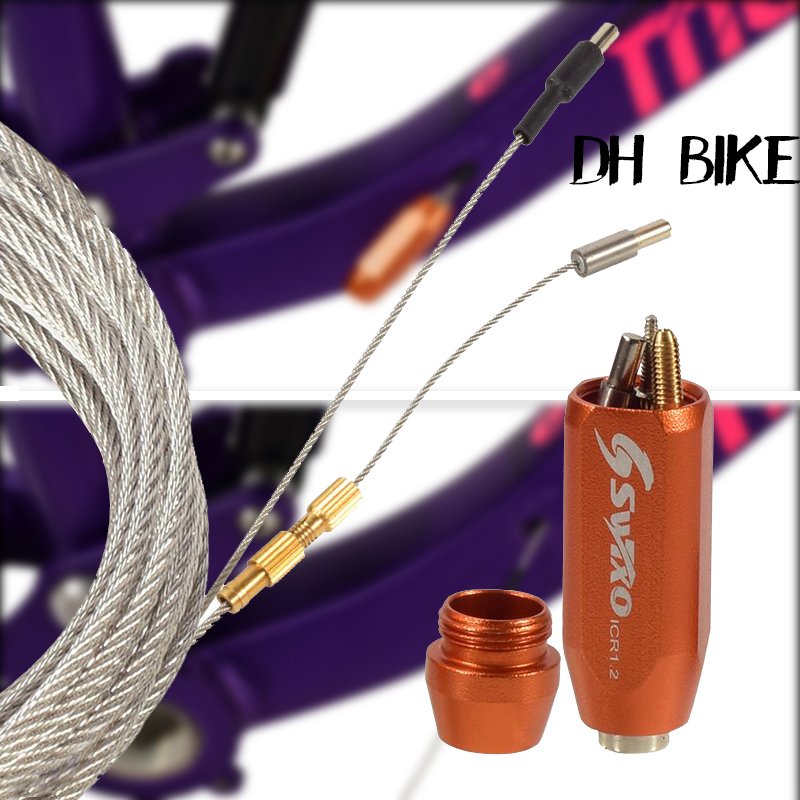<font><b>Bicycle</b></font> <font><b>frame</b></font> Inner Line Tool Shift Cable Bike Tube Brake Hose Oil Hydraulic Magnet Lead Professional Threading <font><b>Set</b></font> MTB Road image