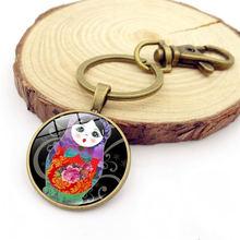 Wg 1 шт Матрешка брелок кабошон драгоценный камень и каменный