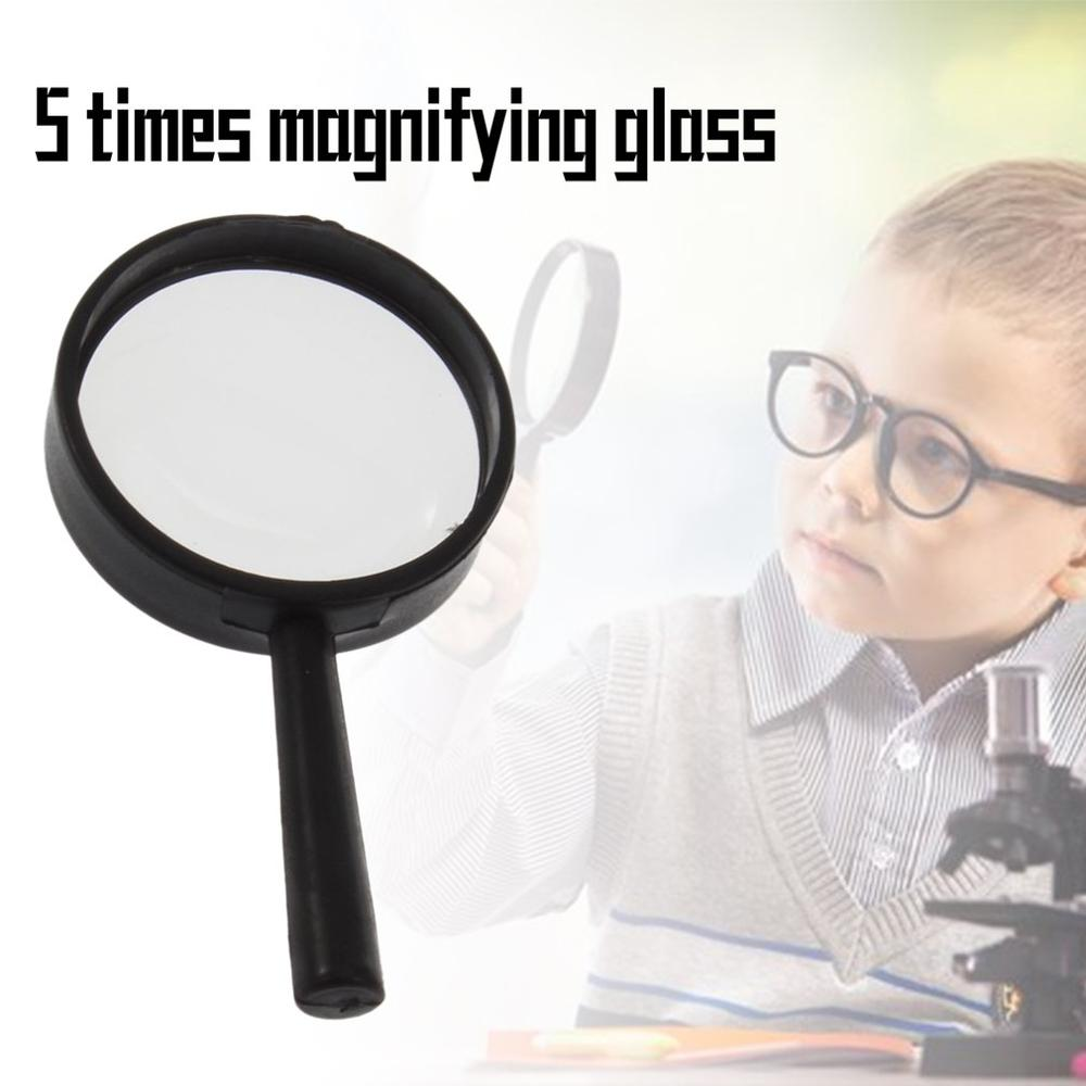 Handheld 5X Magnifier Microscope Magnifying Glass Aid Reading Loupe Mini Pocket Magnifying Glass Lens Reading