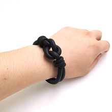 YD&YDBZ 2019 New 2 Color Handmade Black Rope Bracelet Simple Fashion Style Rubber Trend Girl Accessories Wholesale