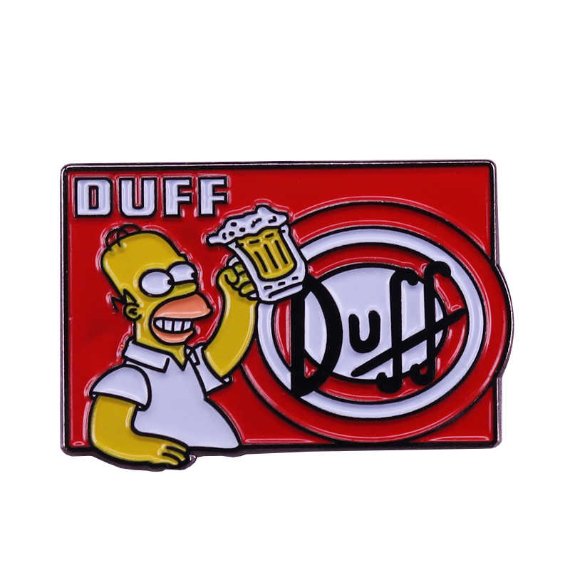 Homer duff beer lover spilla pop del fumetto dei monili