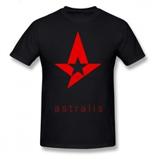 Astralis T Shirt Astralis T Shirt Short Sleeves Graphic Tee Shirt 100 Cotton Funny Fashion Male Plus Size Tshirt(China)