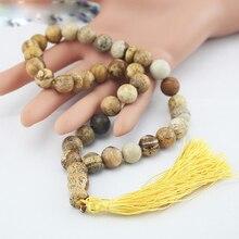 South African Pictureหินพู่จี้ 33 สวดมนต์อิสลามมุสลิมTasbihอัลลอฮ์Mohammed Rosaryสำหรับผู้ชายผู้หญิง