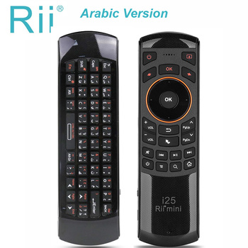 Original Rii mini i25 2.4GHz Arabic Keyboard Air Mouse Remote Control IR Extender Learning for Smart TV Android TV Box  HTPC цена 2017