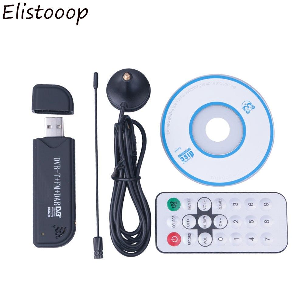 Elitooop USB 2,0 программное обеспечение радио DVB-T RTL2832U + FC0012 SDR цифровой ТВ приемник палка