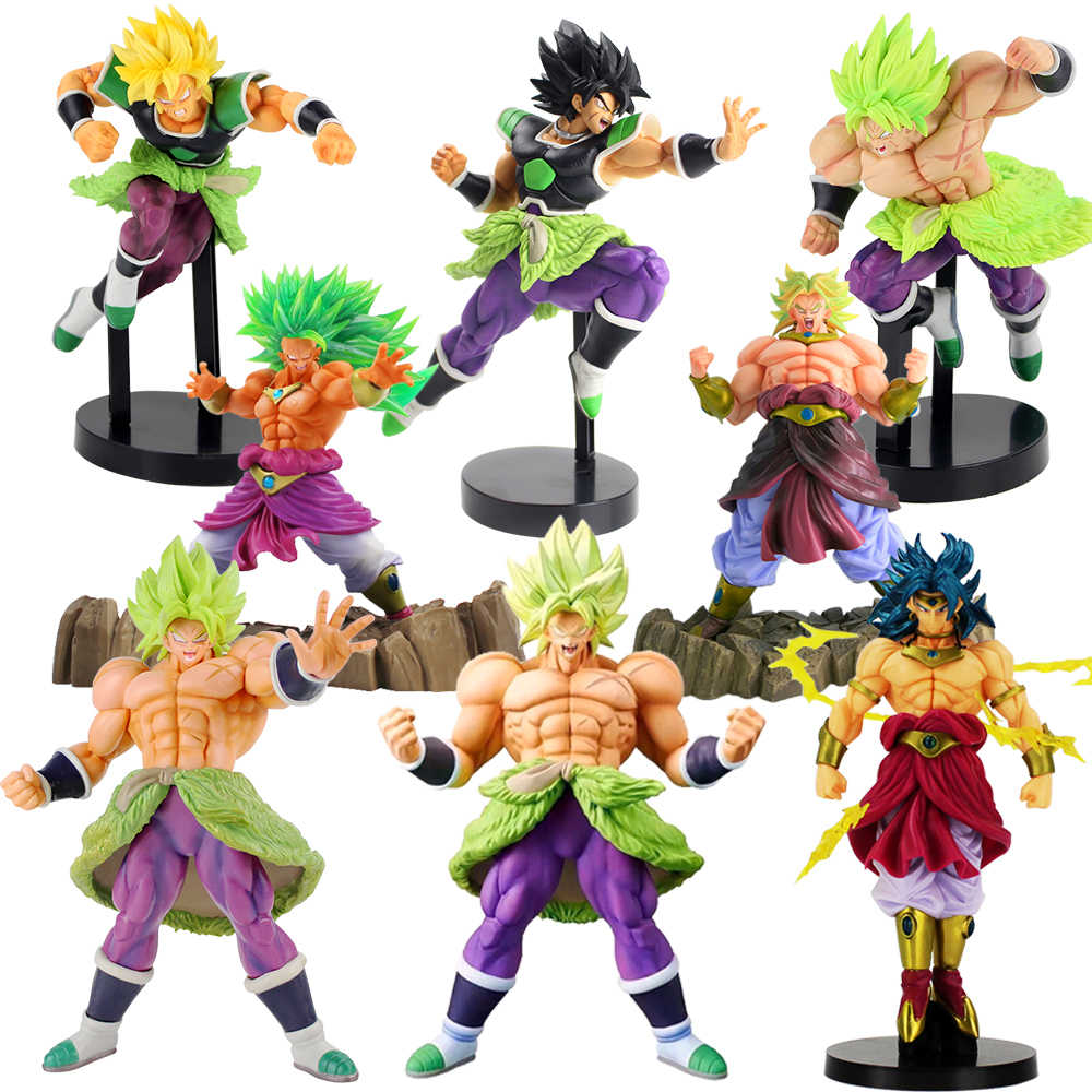 Dragon Ball Z Super Senshi Broly Dragonball Super Saiyan PVC Figura Collectible Action Figure Modelo Brinquedos