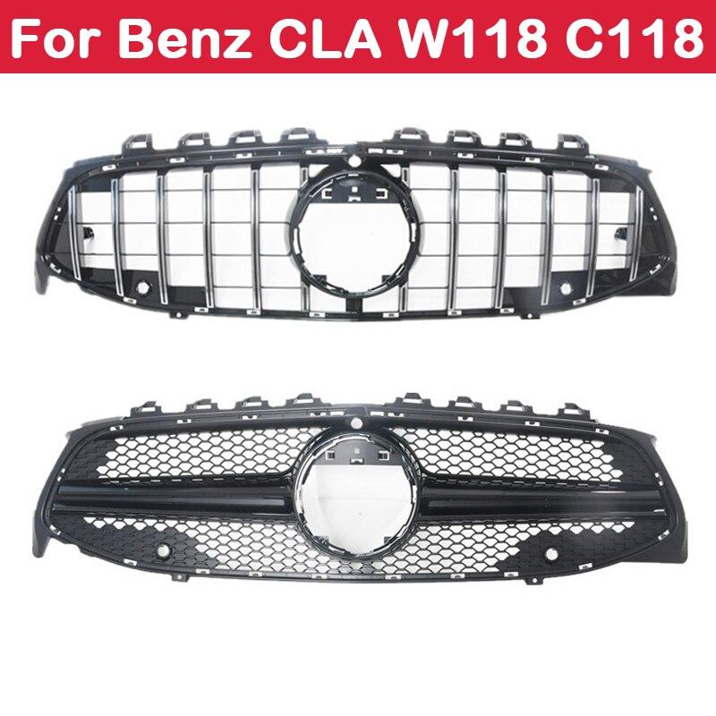 Mercedes-benz CLA araba Styling orta ızgara AMG ABS plastik elmas GT ön ızgara dikey Bar W118 C118 2020 +