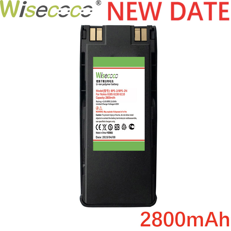 WISECOCO 2800mAh BPS-2 BPS-2N Battery For <font><b>NOKIA</b></font> <font><b>6310I</b></font> 6310 6210 6160 7110 6150 5185 5180 5170 5160 5150 5125 6110 6185 6138 image