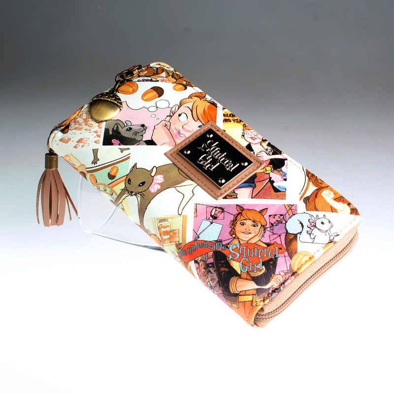 Squirrel girl wallet women's and girls cute fashion coin bag purse