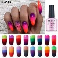 CLAVUZ 10ML Temperatur Farbe Ändern Nagel Gel Lack Weg Tränken Ändern Farbe Nagellack Thermische Gel Design Für DIY nail art