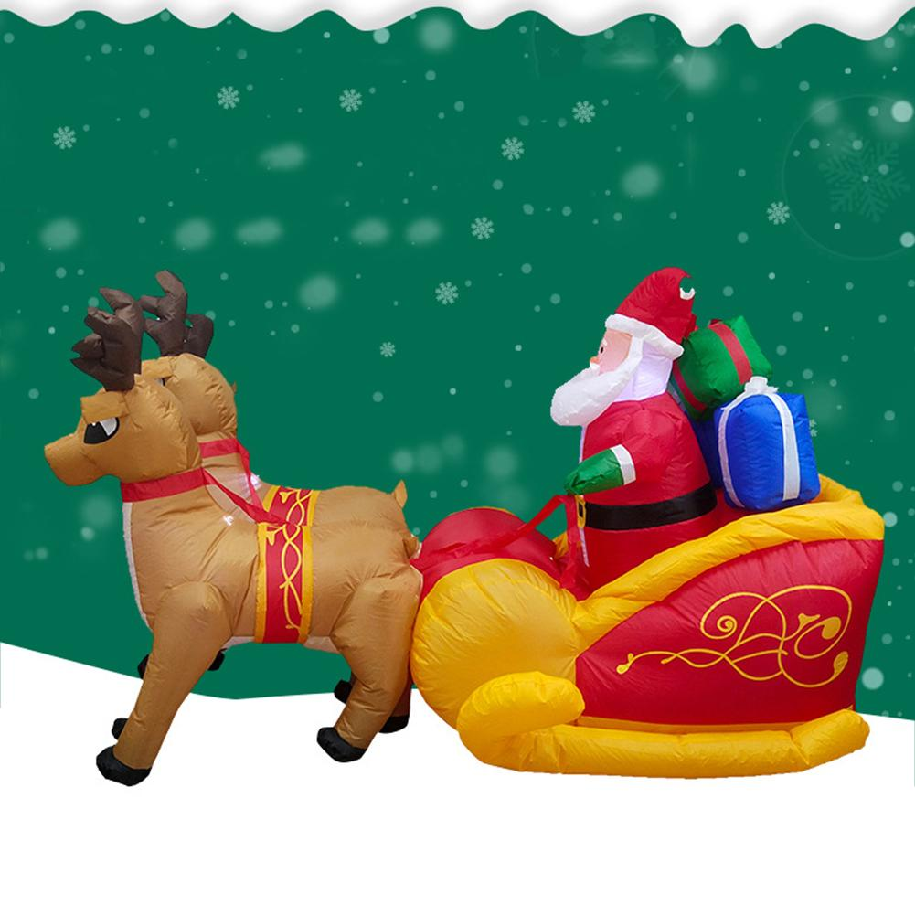 Рождественский Санта Клаус надувной олень сани тележка надувной олень сани замок для детей рождественские подарки Рождественский реквизи... - 2