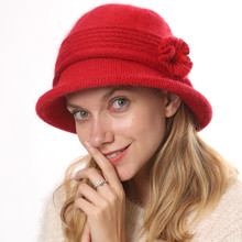 New knitted cap thickening basin of rabbit hair line cap to keep warm in the fall and winter of ms knitting hat fashion female