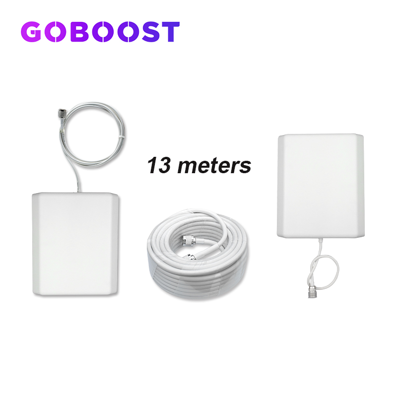 GSM Antenna Kit 900 1800 2100 2G 3G 4G GSM Repeater For LTE Cellular Cellphone Signal Booster 13m Coaxial Cable Penal Antenna *