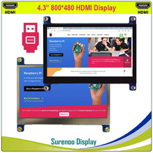"""4.3 """"4.3 Inch 800*480 Tft Hdmi Usb Capacitieve Touch Panel Lcd Module Display Monitor Scherm Voor Raspberry pi"""