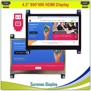 """Image 1 - 4.3 """"4.3 Inch 800*480 Tft Hdmi Usb Capacitieve Touch Panel Lcd Module Display Monitor Scherm Voor Raspberry pi"""