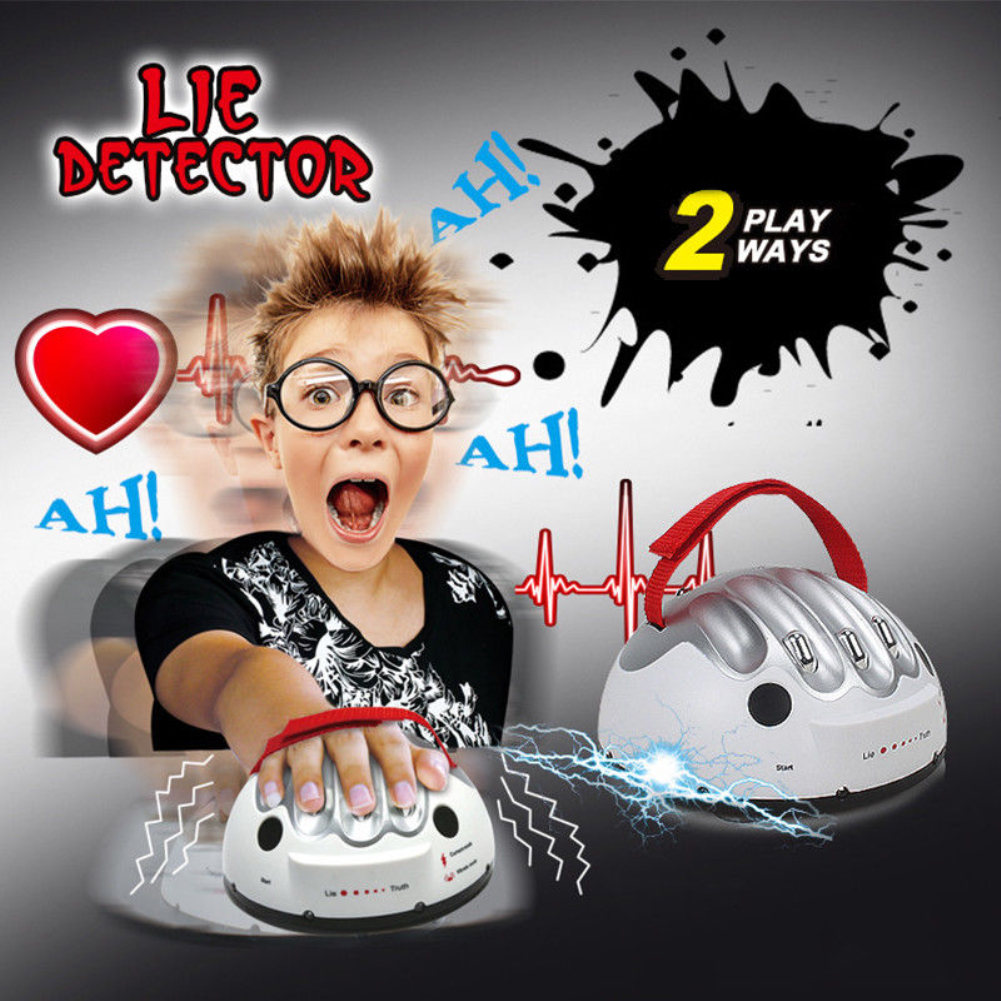 Polygraph Test Tricky Funny Adjustable Adult Micro Electric Shock Lie Detector Shocking Liar Truth Warm Up Dare Party Game Toy