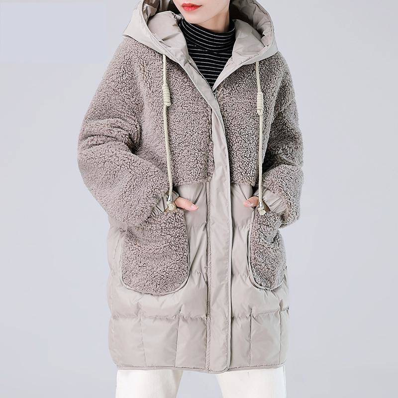 long warm winter coat women pink long teddy coat thick 2019 winter female chic coat ladies pockets vintage outwear image