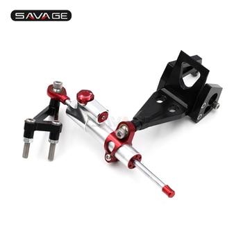 Steering Damper Adjustable Stabilizer For KAWASAKI ER-6N 2009-2011/ ER-4N 11-2013 Motorcycle Linear Reverse Safety Kit ER6N ER4N