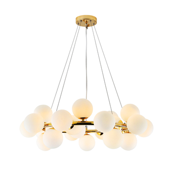 Nordic Designer Living Room LED Hanging Lights Modern Creative American Chandelier Glass Ball Restaurant Iron Pendant Lamp nordic chandeliers creative postmodern magic beans art restaurant simple glass ball branches tree twig molecules living room led