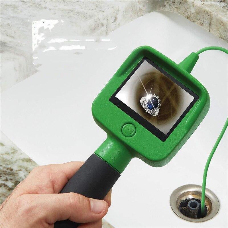Камера эндоскопа с 2,4 дюймовым цветным жидкокристаллическим ЖК-экраном 1,2 м с кабелем гусиная шея ручной монитор трубка осмотр камера борос...