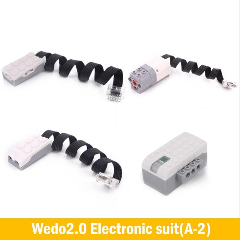 Creator Technic EV3 Parts WeDo 2.0 Robot Sensor Motor Construction Set Building Blocks Compatible Legoes Educational DIY Toys