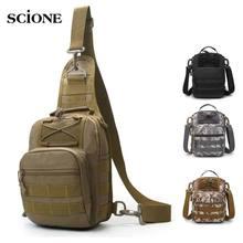 Taktik çanta Molle balıkçılık yürüyüş sırt çantaları av çanta spor göğüs Sling omuz sırt çantası askeri ordu Mochila Tas XA598WA