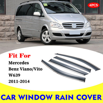luftfederung luftfeder for mercedes vito viano w639 w638 6383280701rear air spring suspension shock a6383280601 l r pair FOR Mercedes Benz Viano Vito W639 2011-2014 car rain shield deflectors awning trim cover exterior car-styling accessories