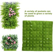 72/81 Pockets Planting Bags Vertical Hanging Wall Plant Growth Bag Home Supplies Yard Garden Decoration Tools цены