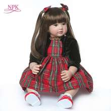 все цены на 60cm very big reborn toddler princess Handmade Silicone vinyl adorable Lifelike Baby Bonecas girl kid doll reborn menina онлайн