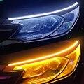 2 шт Автомобильный светодиодный светильник полосы Автомобильные фары дневного света светильник лампа полосы гибкий Водонепроницаемый све...