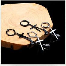 Серьги в форме Креста тассель цепь призрак руки мужские серьги