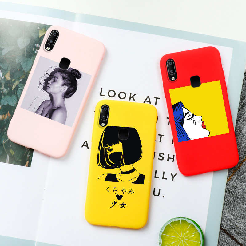 Silicone Candy <font><b>Case</b></font> For <font><b>Vivo</b></font> X7 X9 <font><b>X9S</b></font> Plus Y53 Y55 Y66 Y67 Y69 Y71 Y81 Y83 Pro Y91 Z5X Covers Cool Girls Capa Housing Shell image