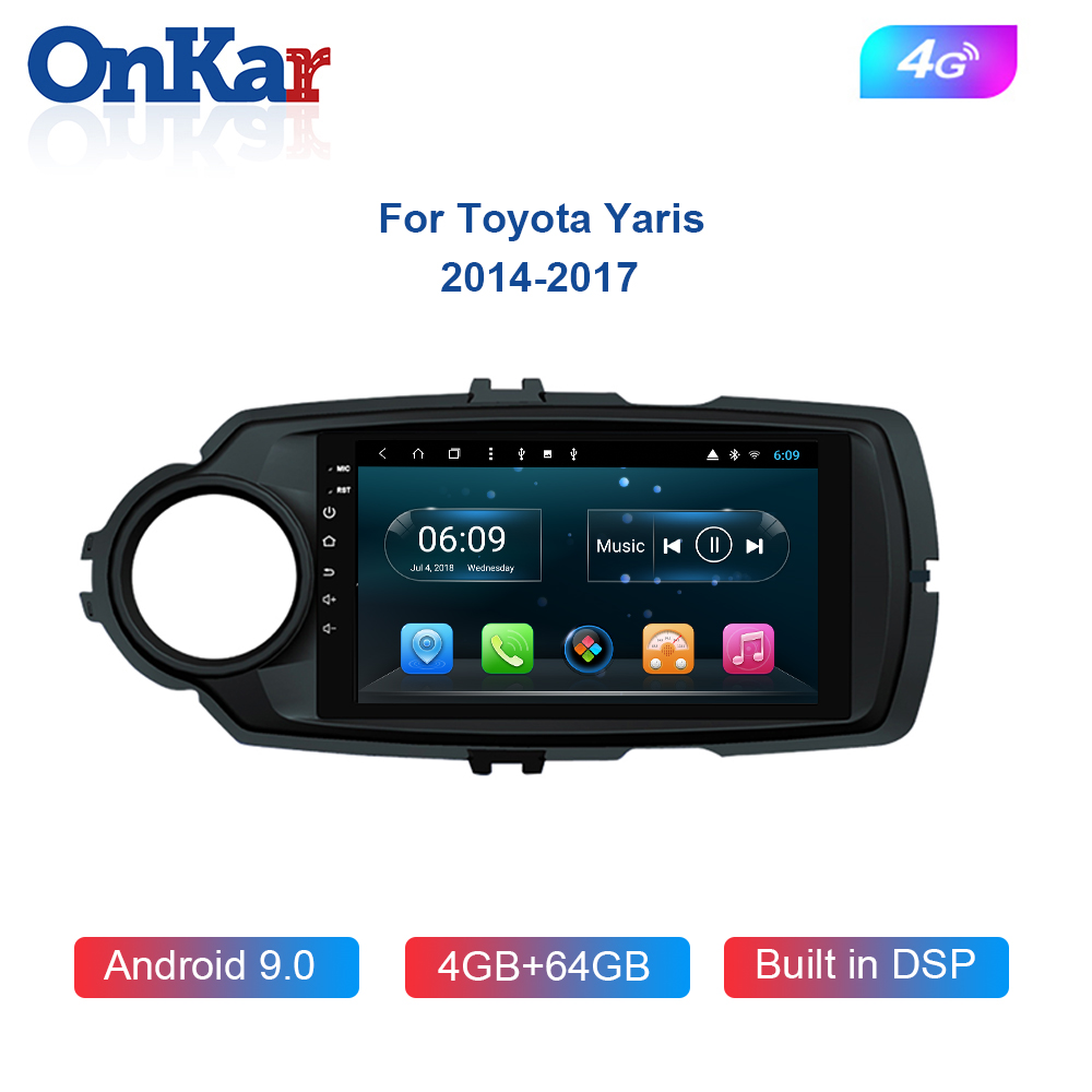 ONKAR Car Head Unit For Toyota Yaris 2014-2017 With Android 8.1 RAM 4GB ROM 64GB Octa