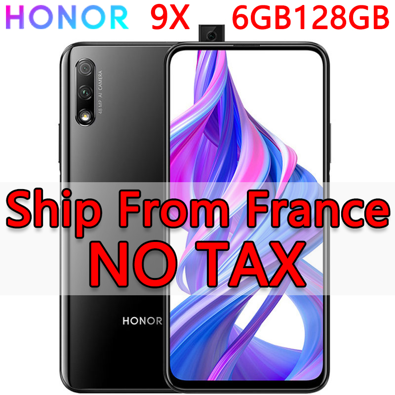 France In Stock Honor 9X 6GB 128GB Android 9.0 Octa Core 6.59 inch Blue Black Mobile Phone