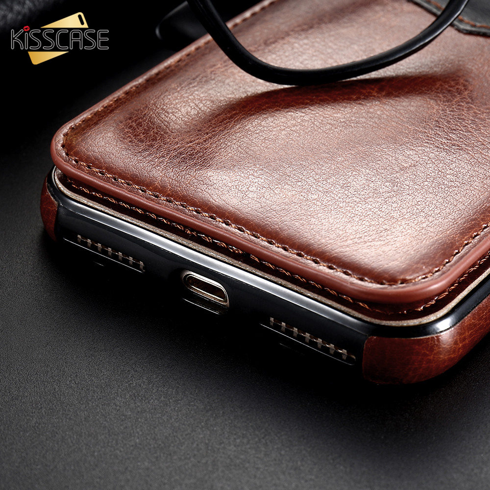 Hb6e9a5e5620347af8d9ee01552d21ad2F KISSCASE Vertical Flip Card Holder Leather Case For iPhone 6s Cover For iPhone 7 Wallet Case 8 XR 11PRO MAX 11 чехол на айфон 6s