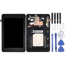 High quality For Asus Memo Pad HD7 / ME173X / ME173 K00B LCD Screen and Digitizer Full Assembly with Frame free shipping new 7 inch black touch screen with digitizer replacment for asus memo pad hd 7 me173 me173x k00b k00u