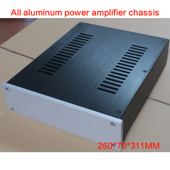 All-aluminum Power Amplifier Chassis 2607 Preamp Case DAC Shell Amp Box Amplifier Enclosure Audio House 260*70*311MM