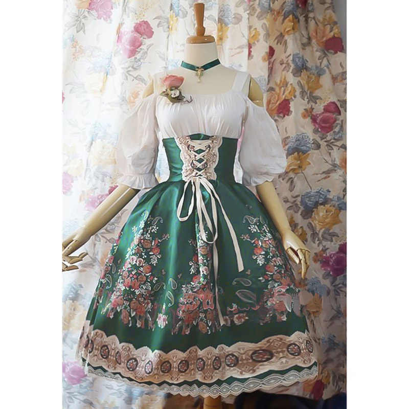 Lolita Dress Vintage stand lace bowknot victorian dress kawaii girl gothic lolita Patchwork happy princess dress loli cos