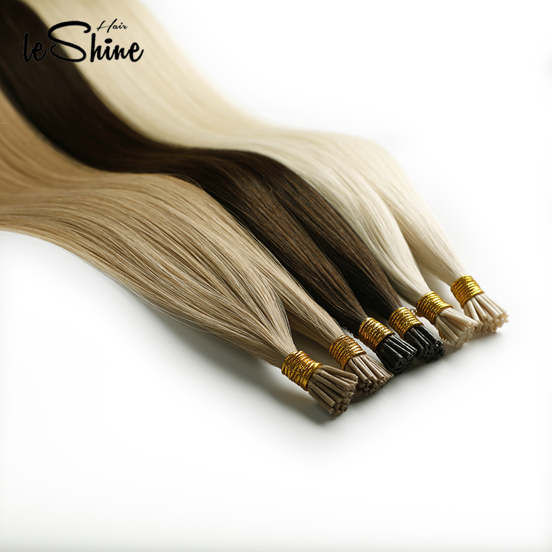 Leshine I Tip Hair Extension Fusion Hair Straight Brazilian Hair Remy Human Hair Extensions On Capsule 50 Strands/pack 20''