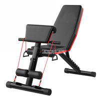 Multifunctional Foldable Dumbbell Bench 7 Gear Backrest Sit Up AB Abdominal Fitness Bench Weight Training Equipment Rollers