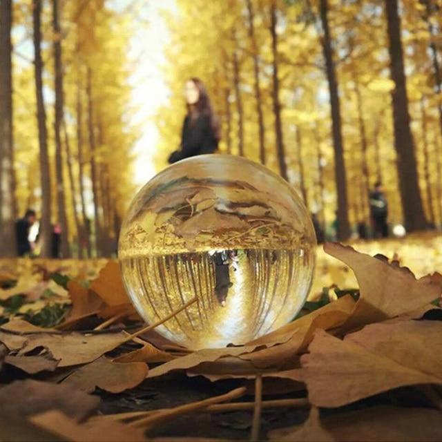 Globo K9 Sereno Lampadario Lente Sfera di Cristallo Sfera di Vetro di Cristallo Del Basamento della Sfera Per Sfera Fotografia Decorazione Della Casa palla Decorativa 3