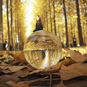 Image 3 - Прозрачная люстра Globe K9 с линзами, стеклянный шар с хрустальными шариками, подставка для сферических шариков, украшение для фотографий, домашний декоративный шар