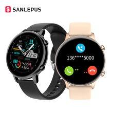 2021 yeni SANLEPUS akıllı izle arama Smartwatch MP3 müzik erkek kadın su geçirmez kol Android iOS için Samsung Huawei